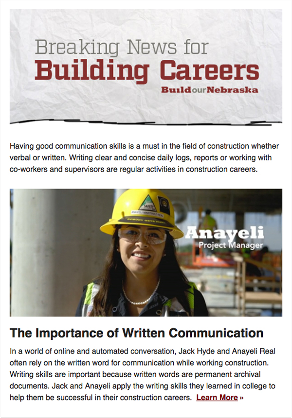 Communication: How A Job Goes Off Without a Hitch